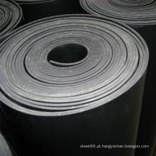Folha de borracha de inserção de tecido preto