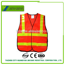 mesh security running reflective vest with pvc tape
