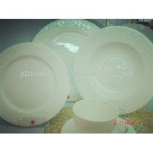 No color fruta uva cupé forma en relieve hueso china cena de cerámica conjunto stock lote