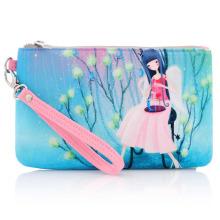 Bolsa de viagem cosmética de lona de algodão impressa promocional Lady Fashion (YKY7531-4)