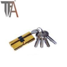 Cilindro de bloqueo abierto de dos lados con cuatro llaves normales