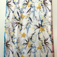 Vestido de mujer con diseño de flores y estampado de pantalla Rayon 45S