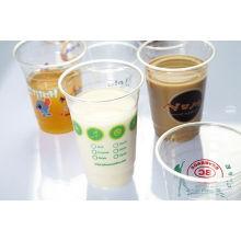 Tasse en plastique d'utilisation de boisson de haute qualité pour le jus