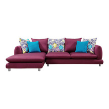 Sleeper Chaise Corner Couch L-Shaped Sectional Sofa