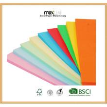 Papel de cor de uso múltiplo de 70GSM com qualquer tamanho