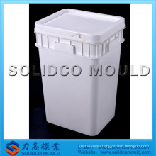 Plastic bucket with lid mould