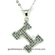 Haute qualité H Letters Necklace Fabriqué avec des pendentifs romantiques AAA Zircon Rhodium Plazout Romantique pour femmes N6612