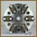 Marteau de Bush de 6rollers de diamant avec la plaque pour la surface de Litchi