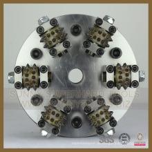 Diamond 6rollers Bush Hammer mit Platte für Litchi Oberfläche