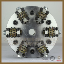 Diamond 6rollers Bush Hammer with Plate for Litchi Surface