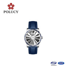 Mineral or Sapphire Glass Setting Slim Stones Ladies Watch