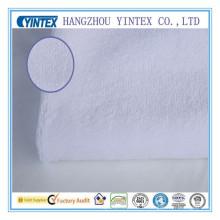Tissu blanc pour lit