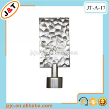 cast iron extendable curtain pole with metal finials