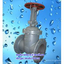 Ucrânia Z41H-16C padrão russo GOST PN50-PN200 aço inoxidável Stell oleoduto válvula de portão
