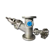 Válvula globo Y com revestimento e dreno