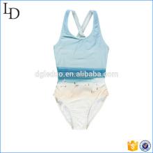 Kundenspezifische einteilige Bikinikinderbadebekleidung druckte nette Strandabnutzung