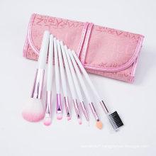 8PCS Pink Ferrule Cosmetics Makeup Brush for Promotion