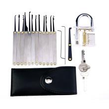 Cadenas transparent avec outils de verrouillage de poignée en métal 15PCS (Combo 3)