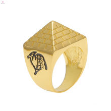 Alloy Taper Hiphop Egypt Totem Gold Pyramid Rings