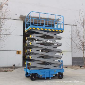 Mobile hydraulische Scherenhebebühne und beweglicher Scherenhebebühne