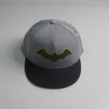 Bomull Jersey Bat Patch Flat Bill Cap