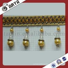 Neue Design Vorhang Polyester Perlen Fransen für Haus Dekor Zubehör Perlen Vorhang