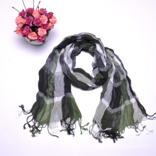 2015 Factory OEM Green Plaid Lady′s Scarve
