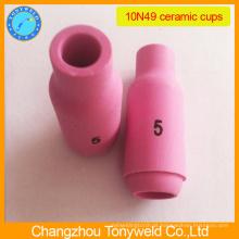 Bocal cerâmico de argônio 10N49 para tocha de soldagem tig