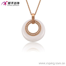 Fashion Women Rose Gold-Plated Imitation CZ Jewelry Ceramic Necklace or Chain --42892