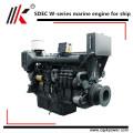 Petit moteur diesel inboard marin refroidi à l'eau moteur de bateau à grande vitesse de 4 cylindres, moteur diesel marin avec la boîte de vitesse