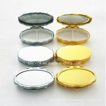 Изготовленный на заказ случай пилюльки, овальный случай пилюльки золота