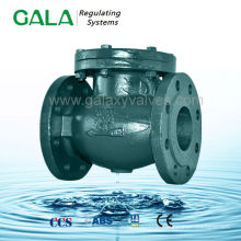din standard metal seated flanged type swing check valve