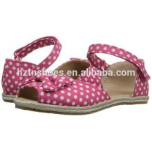 2016 Летний новый стиль Jute Sole Espadrille Обувь для девочек
