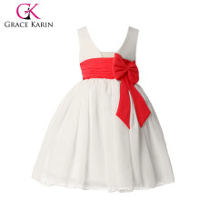Grace Karin Sleeveless Princess White Flower Girls Dresses CL4608