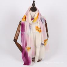 alta calidad mujeres mano pintura pashmina bufanda