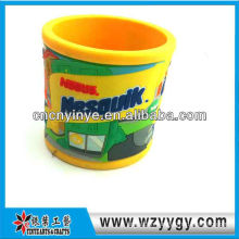 Cartoon embossed customized pvc cup for promo