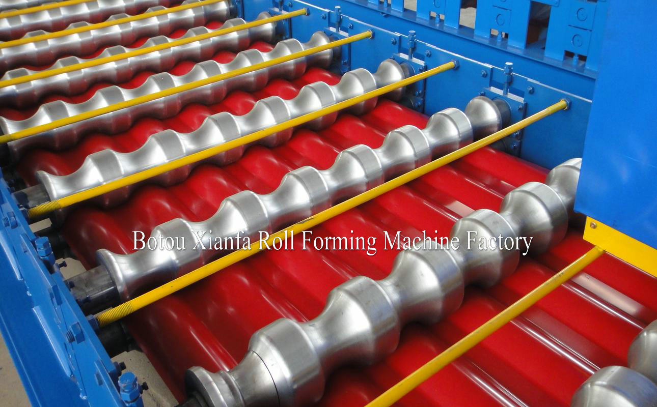 glazed roofing machines