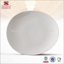 Wholesale céramique porcelaine vaisselle, plat résistant à la chaleur
