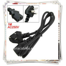 1M PC Displayer 250V 10A AU Plug to C15 Socket Power Cable