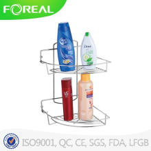 2-Tiers Metal Wire Bathroom Shampoo Rack