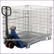 Facilitar el montacargas con jaulas de pallet de metal galvanizado
