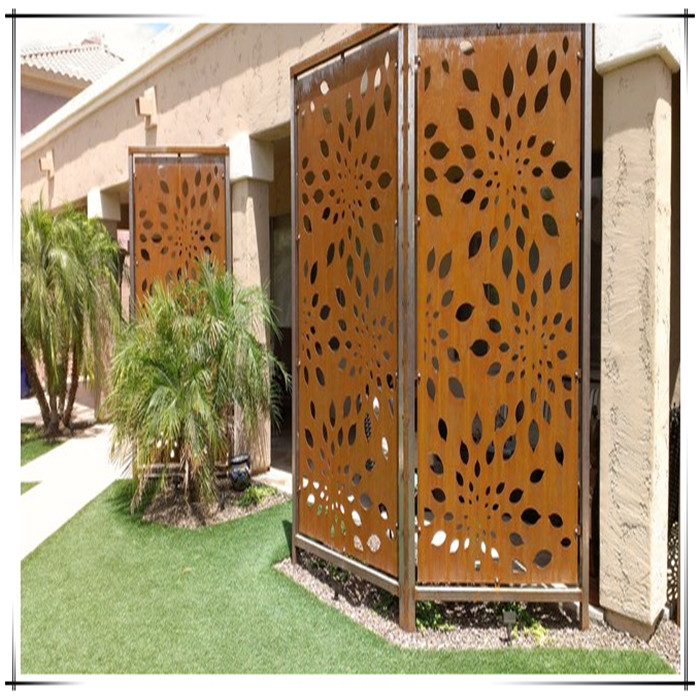 corten steel screen panels