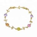 73700 Alibaba high quality leaf shape designed bracelet 14k gold jewelry wholesale