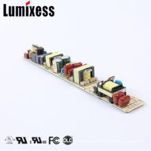 FCC UL cUL Sem cintilação alta PF 350mA 60W 4-canais levou driver para lâmpada linear T5