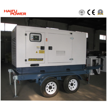 Conjunto de gerador de diesel móvel (com reboque de 4 rodas, 100kVA) (HF80T2)