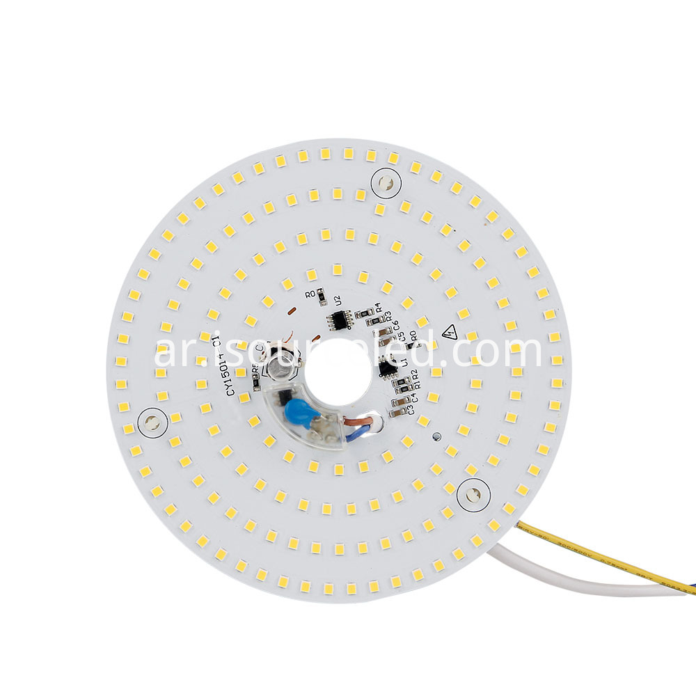 Dimming CCT 4325K Round 15W AC LED Module front