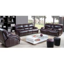 Sillón reclinable doble de lujo y juego de sofá seccional de esquina