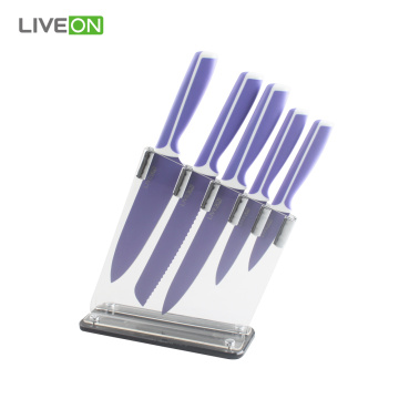 Keuken 6pcs Kitchen Knife Set met acryl