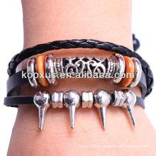 Wrap jóias pulseira de couro KSQN-20