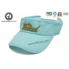 Drifit Marathlon Sports Sun Visor Cap with 3D Embroidery Logo